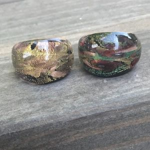 Jewelry - Pair of Plastic Bubble Rings